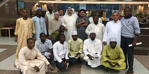 زيارة وفد طلابي من معهد اللغة العربية للناطقين بغيرها